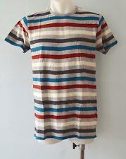 Pull & Bear Mens Stripe T Shirt  - SIZES - M & XL - NEW