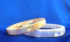 Armreif aus Perlmutt, goldgelb oder weiß, Pinctada Perlmuschel Armband bracelet