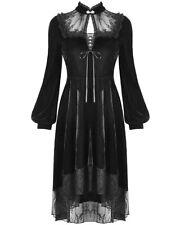Dark In Love Victorian Gothic Dress Black Velvet Lace Steampunk Funeral Vintage