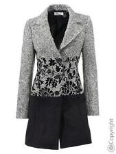 Linea Tesini abrigo corto talla 34 38 46 abrigo negro nuevo