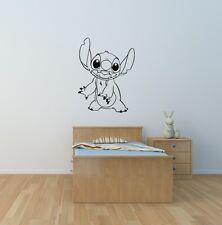 Stitch WALL ART autocollant enfants chambre salle de jeux Nursery Jouet Chambre Maison À faire soi-même