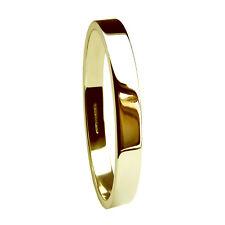 2mm 9ct Yellow Gold Wedding Rings Flat Profile Bands 1.6g 375 UK Hallmarked H-Q