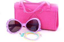 Kids Sunglasses and Bag Gift Set in Polka Dots Design