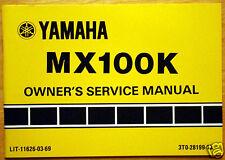 1982 Yamaha MX100K Motorcycle Owners Service Manual