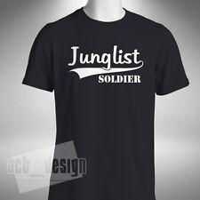 Junglist Soldier Mens T-SHIRT Jungle Drum Bass Stevie Hyper D Old Skool Rave
