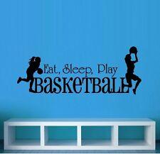 Eat Sleep Play Basketball: Girls ~ Wall or Window Decal