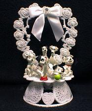FAMILY Wedding Cake Topper Dalmatian Puppies 1, 2 ,3 or 4 Children Child Disney