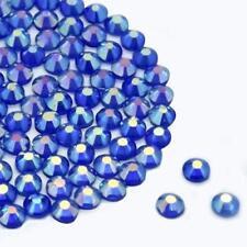 Sapphire AB hotfix Diamantes Vetro Strass Dmc Qualità Piatto Indietro COLLA ferro su