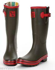 Evercreatures Ladies Wellies Winter Boots Designer Army Rubber Wellingtons