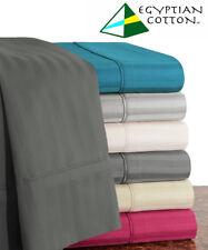 Damask Stripe 600 Thread Count 100% Egyptian Cotton 6 Piece Sheet Set