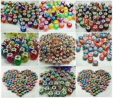 50pcs mix DIY murano Jewelry bead LAMPWORK fit European Bracelet beads wholesale
