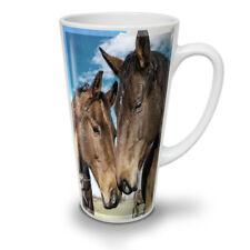 Cavallo Viso Amore Animale Nuovo White Tea Latte Macchiato caffè tazza 12 17 OZ | wellcoda