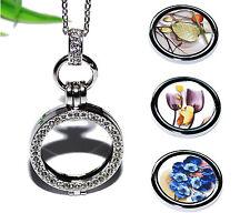 COIN MEDAILLON Kette Anhänger silber Halter Einleger Münze Halskette +++ NATUR