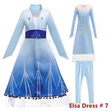 Princess Elsa Anna Costume Party Cosplay Dress Pants Clothes Coat Set