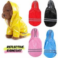 Waterproof Jacket Pet Hooded Reflective Rain Coat PU For Small Dogs  Dog