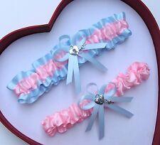 NEW Gorgeous Baby Pink Light Blue Wedding Garter Prom Homecoming GetTheGoodStuff