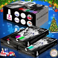 Oficial de CCO Kit conjunto de caja de regalo de Navidad Esmalte Gel UV LED de hielo Barniz Capa Base Superior