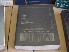 1986 Cadillac Eldorado/Seville Shop manual, Service Manual, taller de mano libro, gm