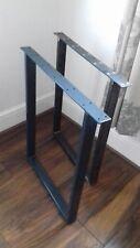 2 metal table legs dining table bench legs coffee table Industrial UK Steel pair