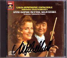 Anne-Sophie MUTTER Signed SARASATE Zigeunerweisen LALO espagnole SEIJI OZAWA CD