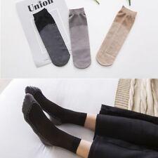 3 Color Velvet Cotton Bottom Short Sock Non-slip Foot Reflexology Women Socks
