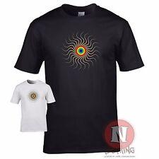 Rainbow spiral T-shirt raving LGBT LGBTQ clubbing festival DJ techno trance
