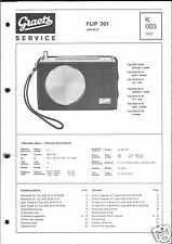 Graetz Original Service Manual für Flip 301