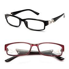 Clear Lens Glasses w/ Rhinestone Temple Rectangular Frame