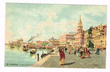 Old Postcard 1900 ca VENEZIA Riva Schiavoni ITALY VENICE Postal Cartolina ITALIA