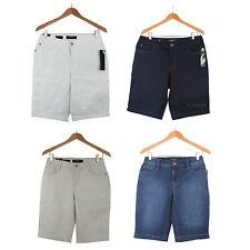 NWT Nine West Jeans Women Lucie Bermuda Denim Short Pants Size 6-16 in 4 Colors