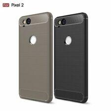 Google Pixel 2 TPU Handy Tasche Karbon Fiber Optik Textur Gebürstet Cover Hülle