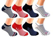 8 Sneaker Socks Sport Casual Ladies Men's Cotton Füssling short Size 35-42