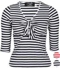 Küstenluder JANELLE Sailor BOW KNOT Schleifen Shirt Matrosen Rockabilly
