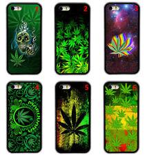 Marijuana Weed Pot Kush Skull Rubber Phone Case Cover For iPhone / Samsung / LG