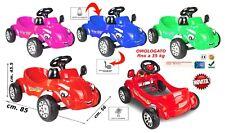 Macchina a pedali per bambini rossa auto cavalcabile go kart per bambini