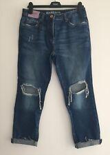 Next Azul Medio Rodilla Rip Jeans 6/8/10 / 12/14/16/20