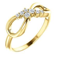 Diamond Infinity-Inspired Ring In 14K Yellow Gold (1/8 ct. tw