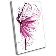 Ballet Dancer Performing SINGLE CANVAS WALL ART Picture Print VA