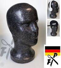 FP Herren Styroporkopf SAM - Perückenkopf Mann - Dekokopf männlich - schwarz