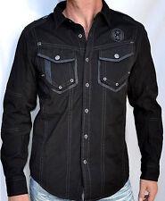Affliction Black Premium Men's OVERTAKE Long Sleeve Dress Shirt - 10WV445  Black