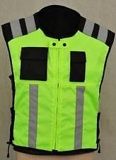 Hi Vis viz Vest Safety Jacket Hi Visibility Motorbike Waistcoat Reflective Bib