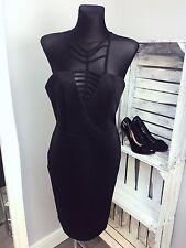 Club De L Jaula de cuello en V Vestido Mini Detalle Rrp £ 35 (AS-37/4)