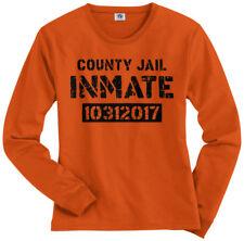 County Jail Inmate 2017 Halloween Costume Women's Long Sleeve T-Shirt