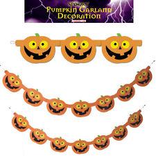 1.5M Pumpkin Garland Halloween 7pc Party Prop Decor Hanging Banner Haunted House