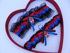 New Handmade SpiderMan Red Royal Blue Black Wedding Garter Superhero