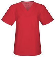 Cherokee Workwear Scrubs Short Sleeve Top 34777A REDW Red Free Shipping