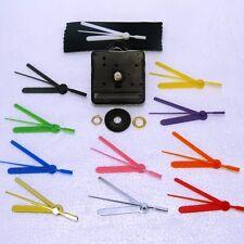 10x Quartz clock movements with coloured hands for CRAFTS, DIY, CD clocks