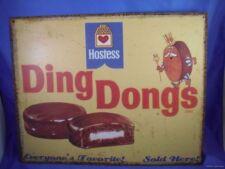 VINTAGE HOSTESS CUPCAKE DING DONG METAL TIN BAKERY SIGN diner desert restaurant