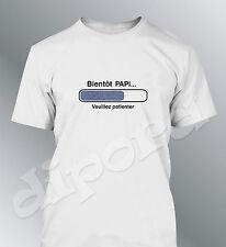 Tee shirt Futur PAPI grand-pere homme geek bébé grossesse bientot naissance PAPY