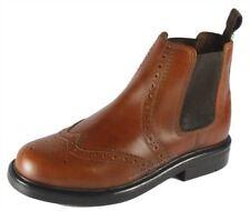oaktrak Appleby marron à enfiler bottes chelsea garçons à enfiler cuir